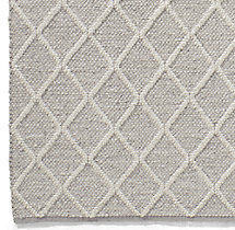 Braided Diamante Rug Swatch - Fog/Cream