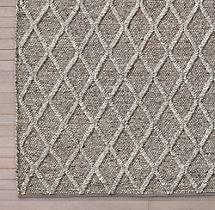 Braided Diamante Rug Swatch - Mocha/Fog
