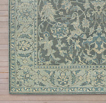 Sara Hand-Knotted Rug Swatch - Grey