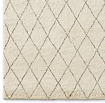 Dara Rug Swatch - Cream/Chocolate