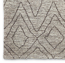 Double Diamond Moroccan Wool Rug Swatch - Grey