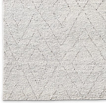 Double Diamond Moroccan Wool Rug Swatch - Silver