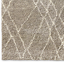 Noura Moroccan High-Pile Wool Rug Swatch - Taupe