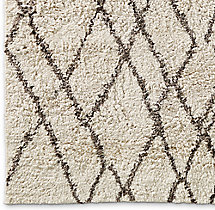 Noura Moroccan High Pile Wool Rug Swatch - Cream