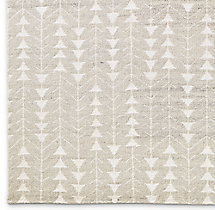 Cedro Moroccan Wool Rug Swatch - Silver