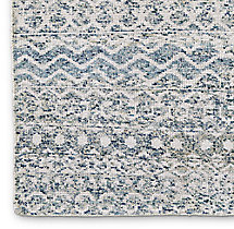 Zahira Moroccan Rug Swatch - Ivory/Blue