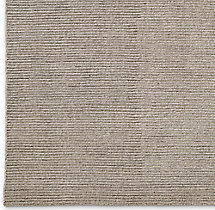 Ribbed Distressed Wool Rug Swatch - Mink