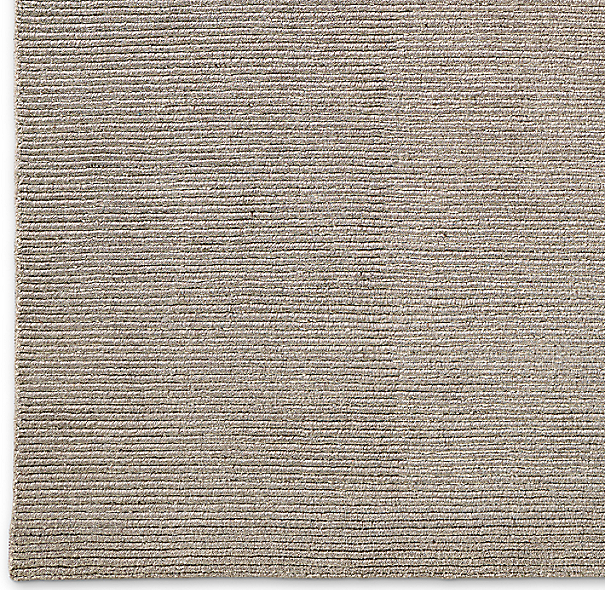 Ribbed Distressed Wool Rug Swatch Mink