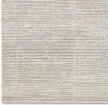 Ribbed Distressed Wool Rug Swatch - Cream