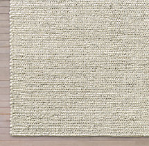 Chunky Textured Rug Swatch - Cream