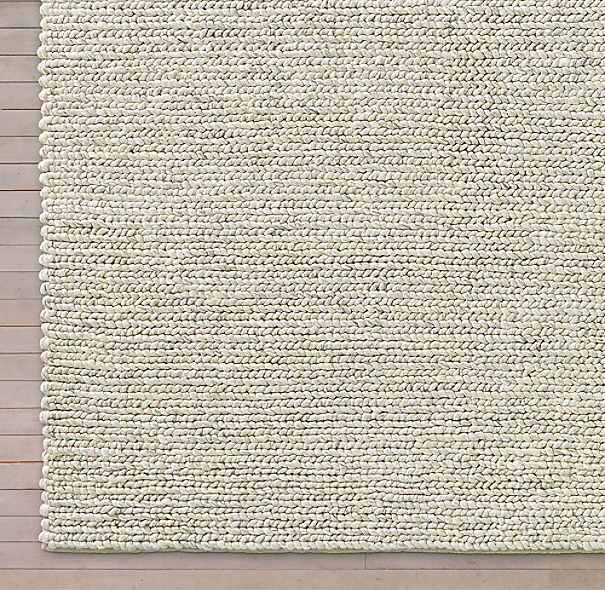 Chunky Textured Rug Swatch Cream
