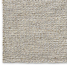 Chunky Braided Twist Rug Swatch - Silver