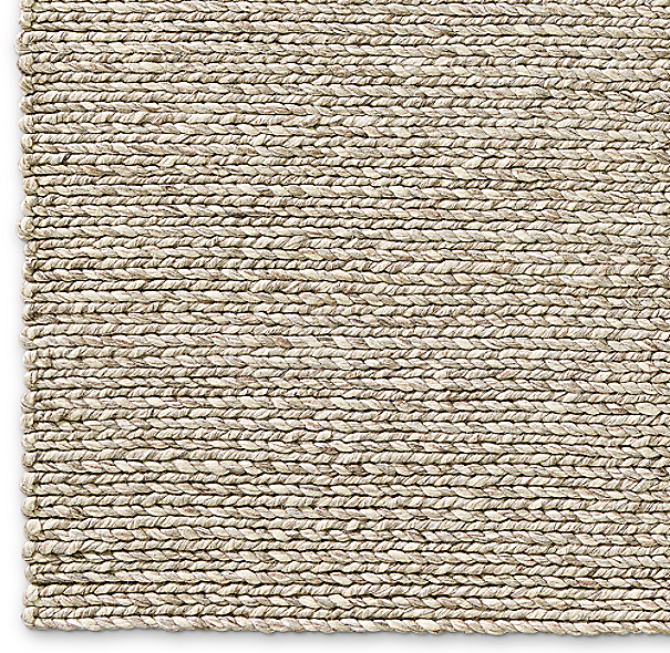 Chunky Braided Twist Rug Swatch Taupe