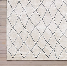 Arlequin Rug Swatch - Cream/ Charcoal
