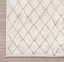 Arlequin Rug Swatch - Cream/ Grey