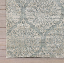 Damasco Rug Swatch - Silver