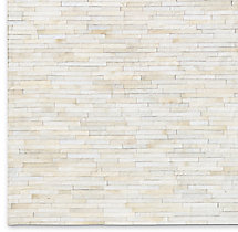 South American Cowhide Stripe Rug Swatch - Ivory