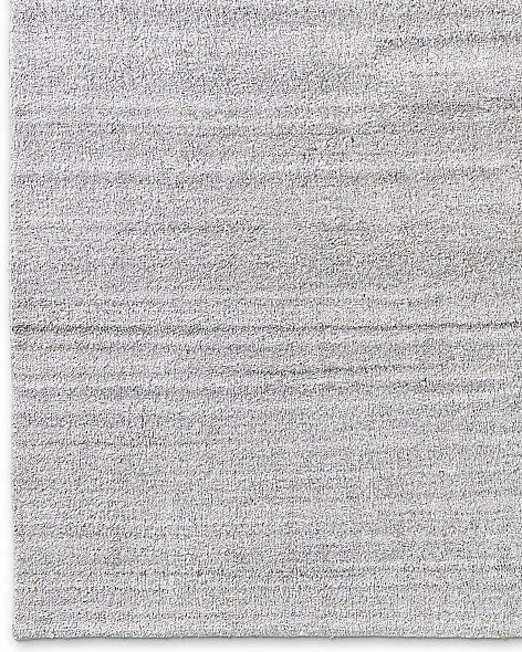 Luxe Heathered Wool Rug - Silver