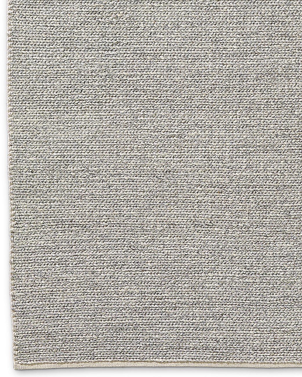 Braided Wool Rug Fog
