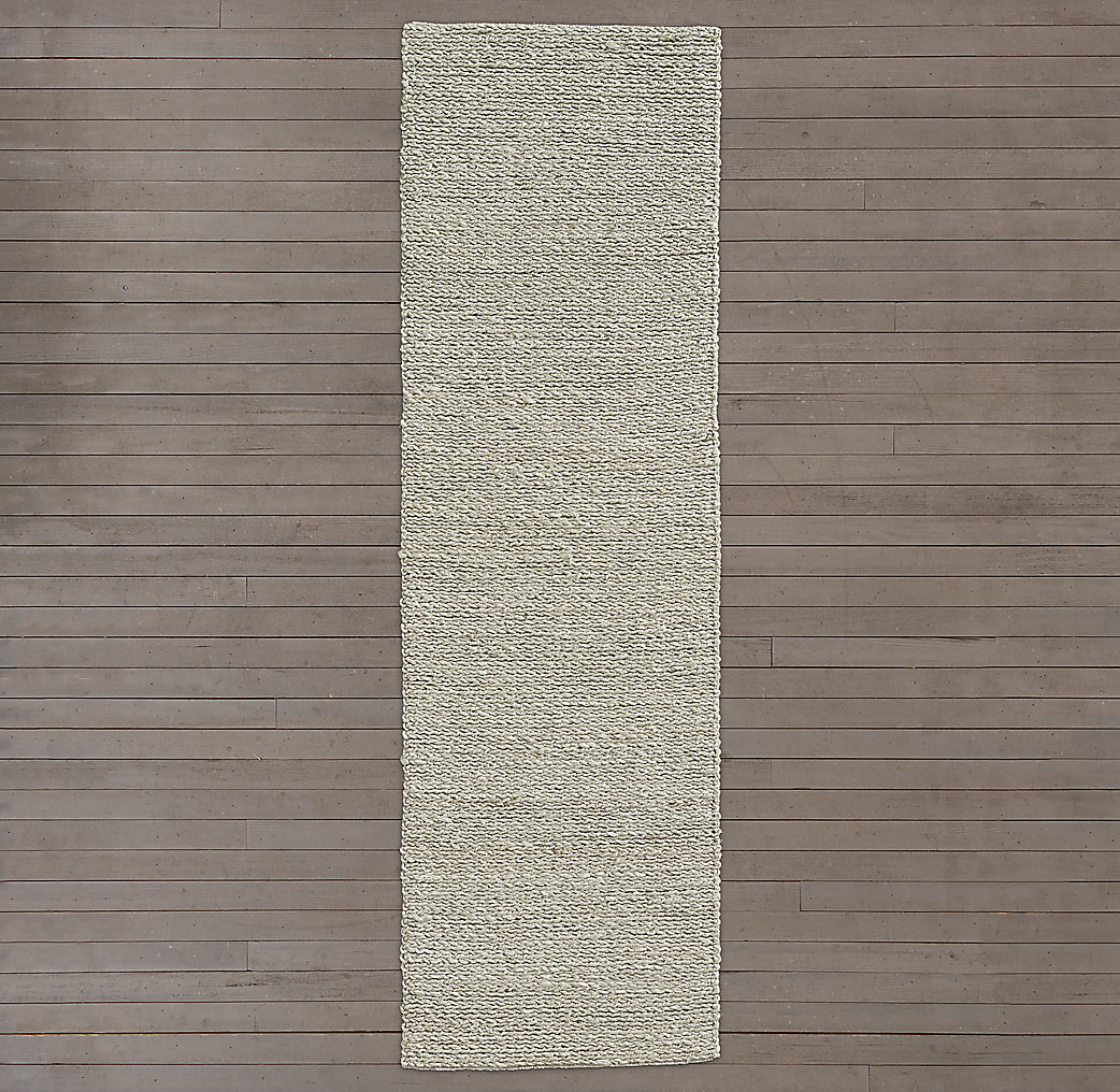 Braided Twist Jute Rug - Silver