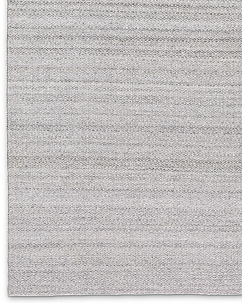 Double Diamond Flatweave Rug - Fog