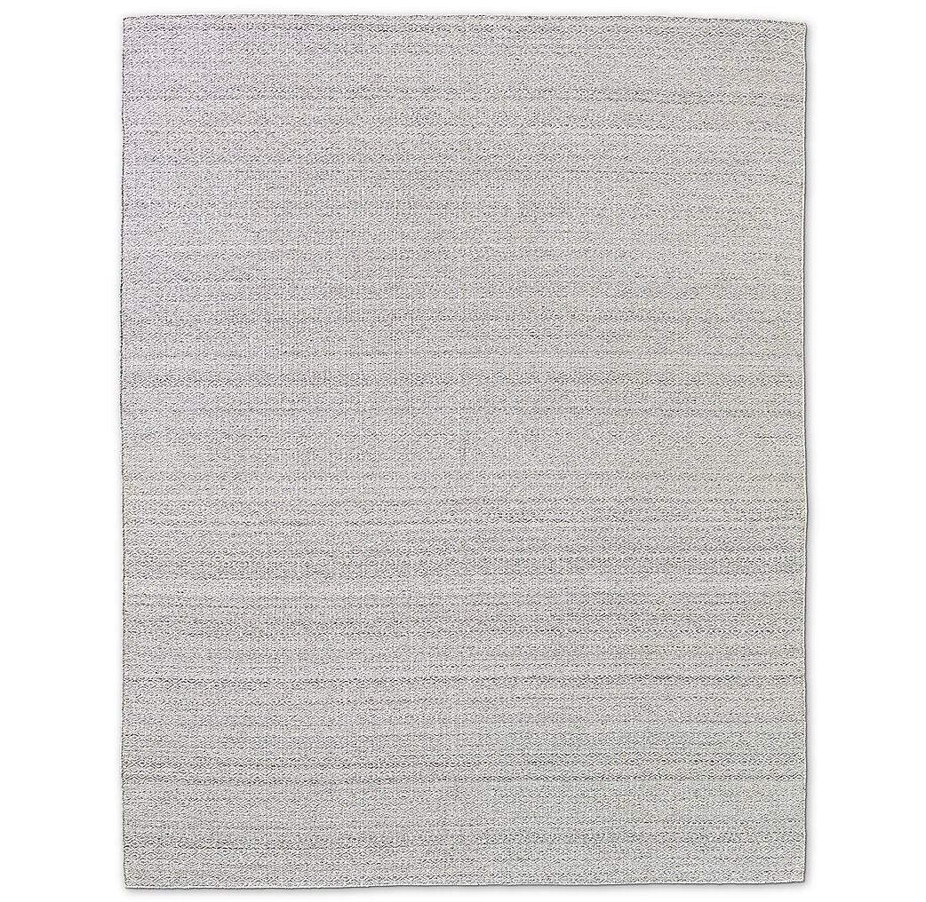Double Diamond Flatweave Rug - Silver