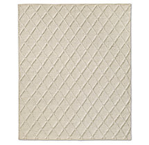 Braided Diamante Rug - Cream