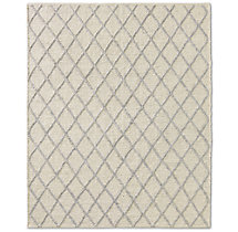 Braided Diamante Rug - Cream/Fog