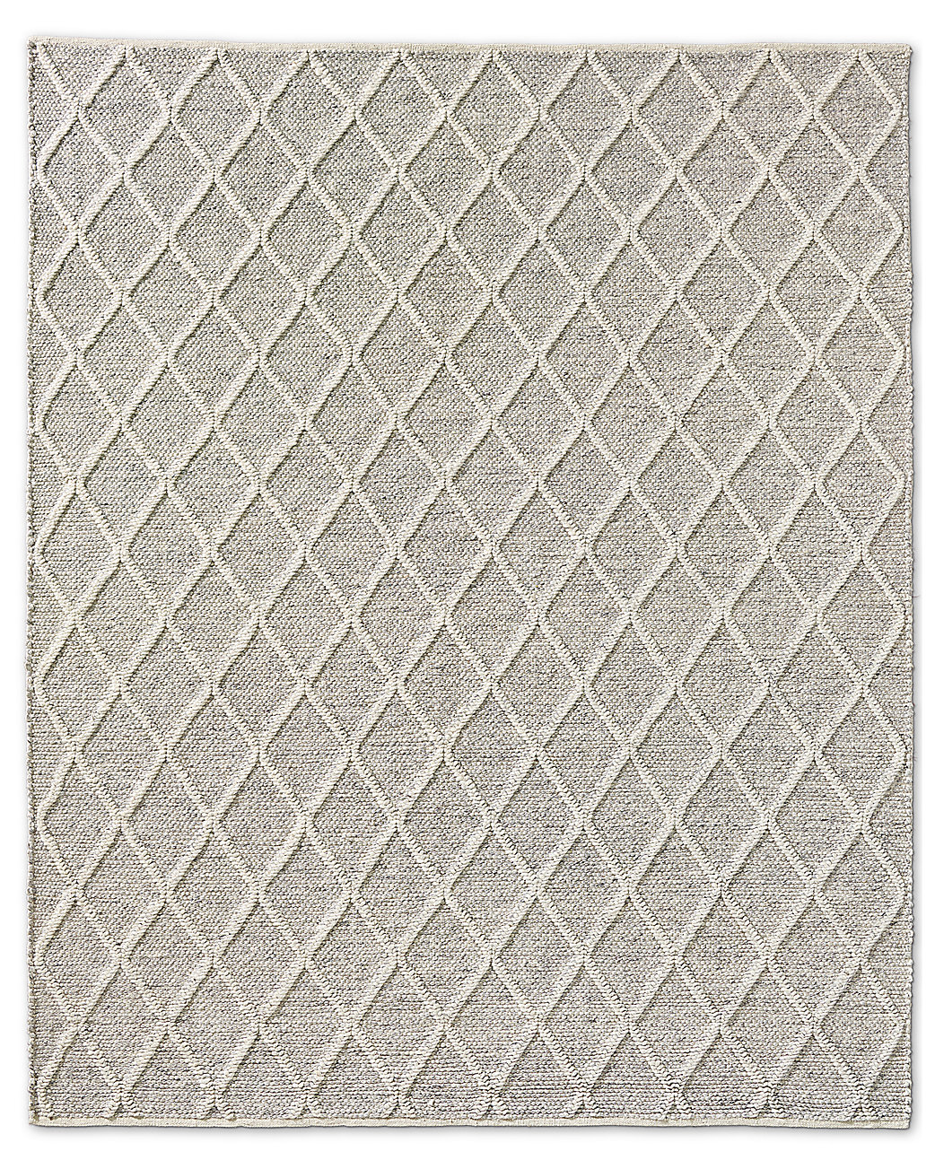 Braided Diamante Rug - Fog/Cream