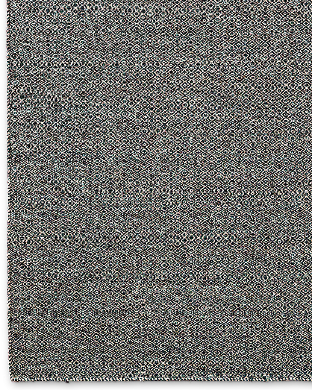 Diamond Tile Flatweave Rug Grey