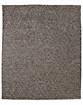 Double Diamond Moroccan Wool Rug - Graphite