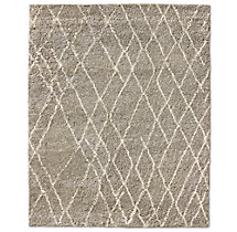 Noura Moroccan High-Pile Wool Rug - Taupe