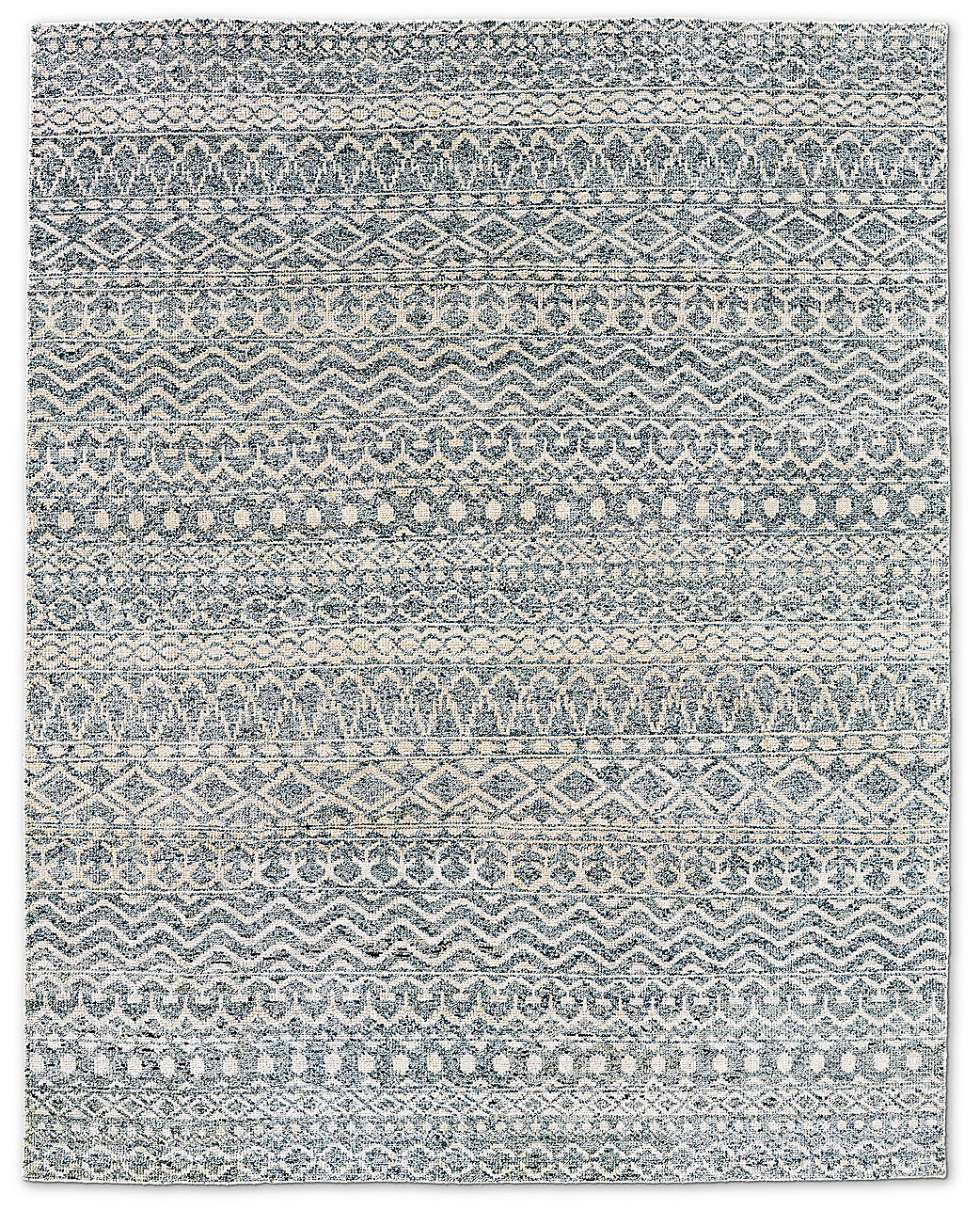 Zahira Moroccan Rug Grey Indigo