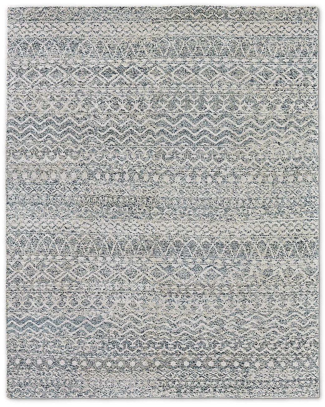 Zahira Moroccan Rug Ivory Blue