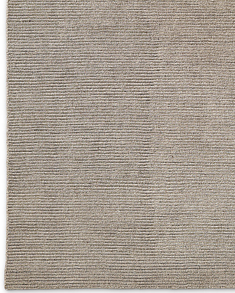 Ribbed Distressed Wool Rug - Mink