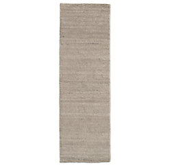 Ribbed Distressed Wool Rug - Chocolate