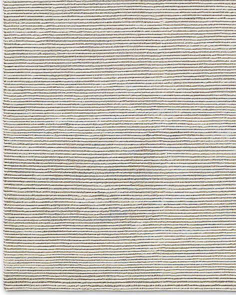 Ribbed Distressed Wool Rug - Cream