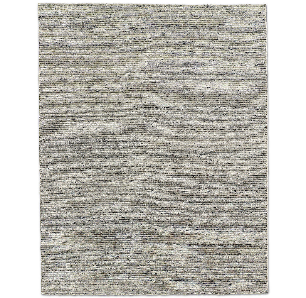 Ribbed Variegated Wool Rug - Silver Sage