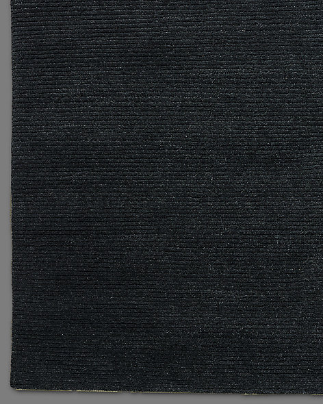 Ribbed Variegated Wool Rug - Mink