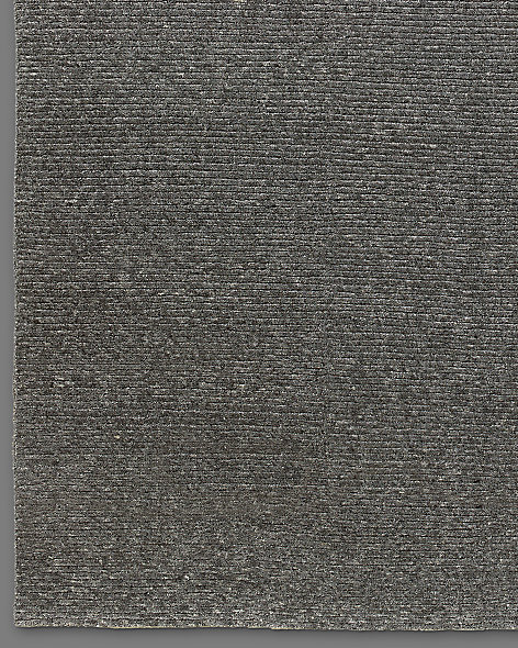 Ribbed Variegated Wool Rug - Slate