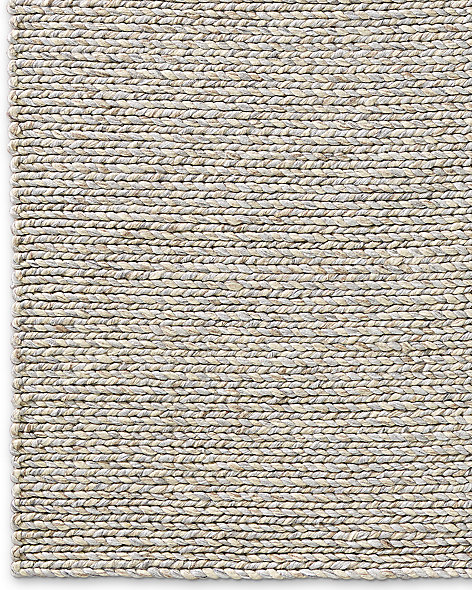 Chunky Braided Twist Rug - Silver