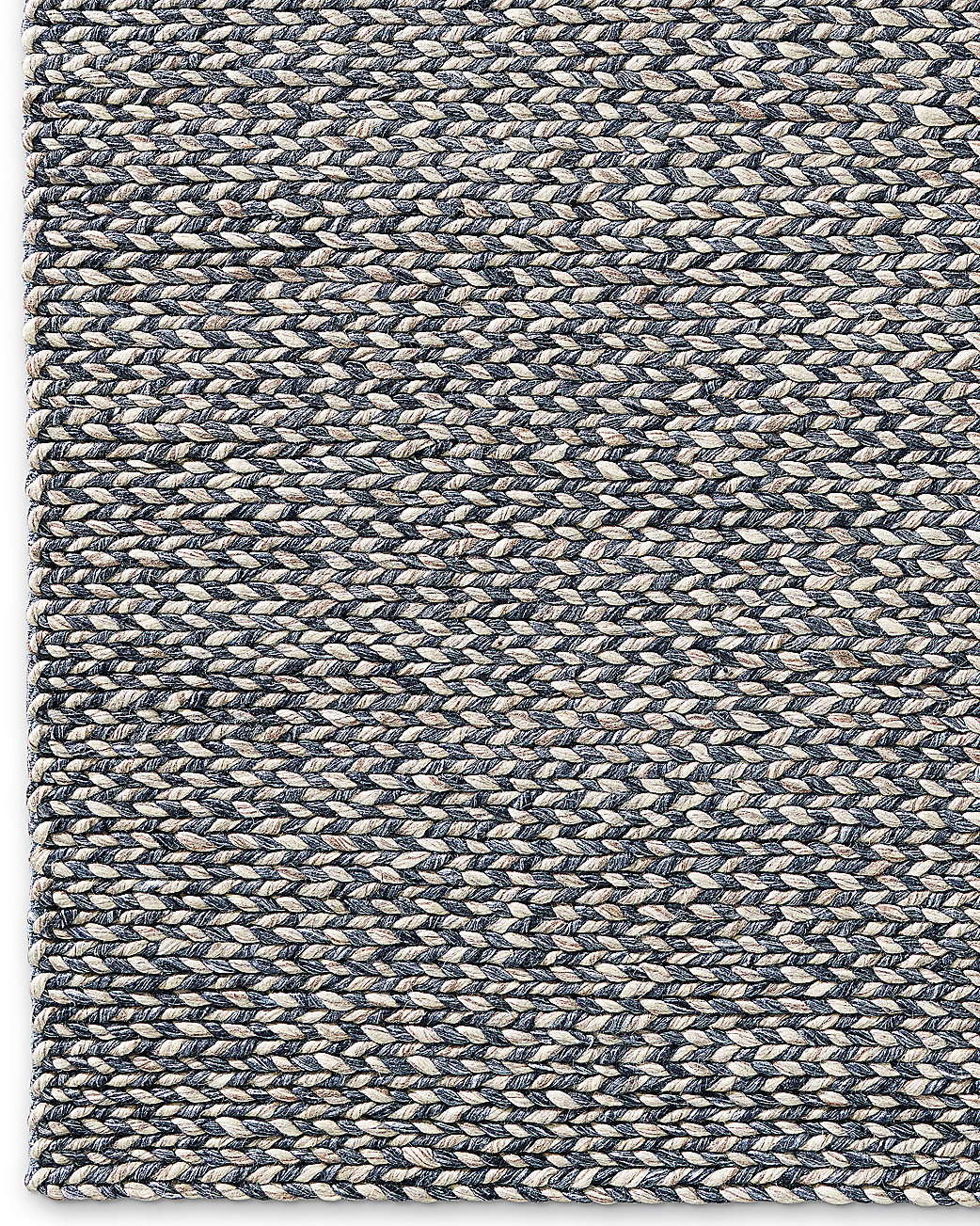 Chunky Braided Twist Rug - Charcoal