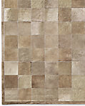 South American Cowhide Tile Rug - Taupe
