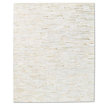 South American Cowhide Stripe Rug - Ivory