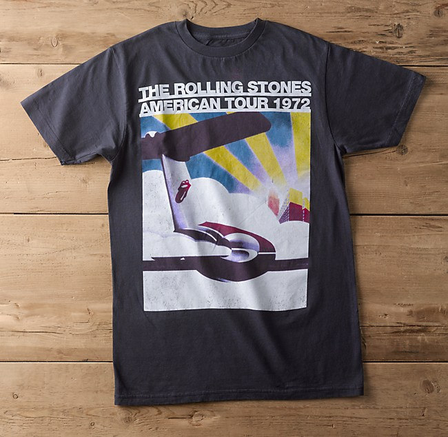 Rolling Stones Vintage T-Shirt, 1972 Airplane Graphic