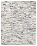 South American Cowhide Stripe Rug - Steel