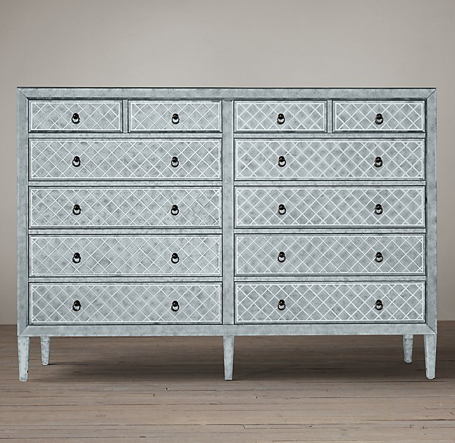 Matte White Lacquer And Gl Milano Dresser Zuri Furniture