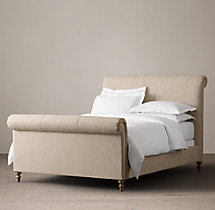 Ellsworth Fabric Sleigh Bed With Footboard