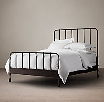 Dutch Industrial Bed With Footboard