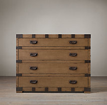 Heirloom Silver-Chest 4-Drawer Dresser